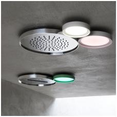 Šviestuvas montuojamas lubose, skirtas dušui, RGB apšvietimas